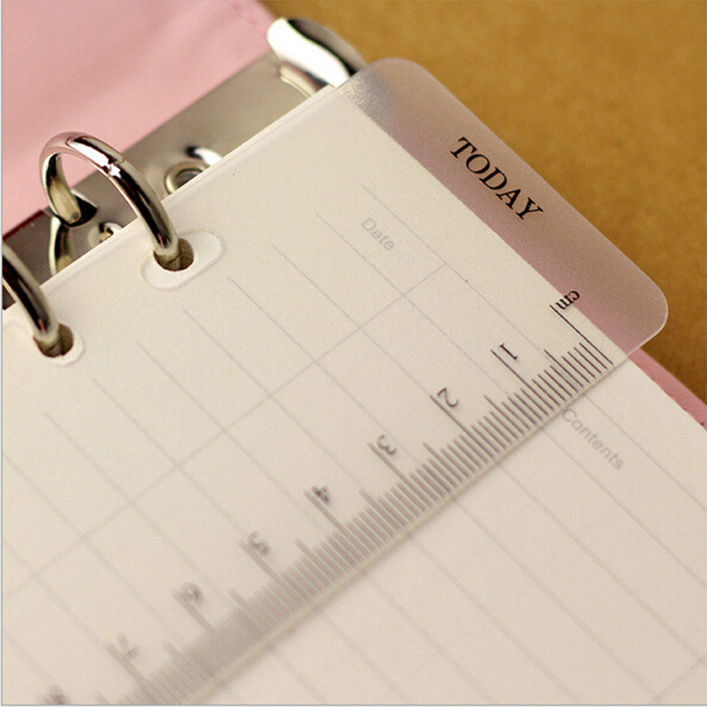 A5A6 6 Holes Spiral Planner Accessory Ruler Office School