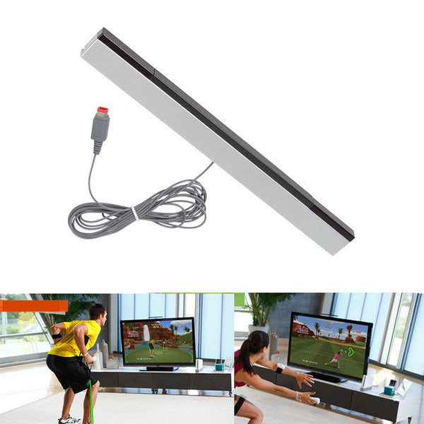 ABS Sensor Bar Receivers New For Nintendo Wii For WiiU Sensor Bar Wiiu Wired Sensors Receivers