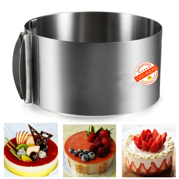 Adjustable Stainless Steel Circle Mousse Ring 6-12inch Baking Tool for Birthday cake party