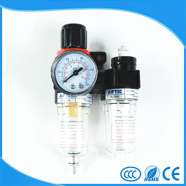 "AFC2000 G1 4"" Air Filter Regulator Combination Lubricator FRL Two Union Treatment oil water separation"