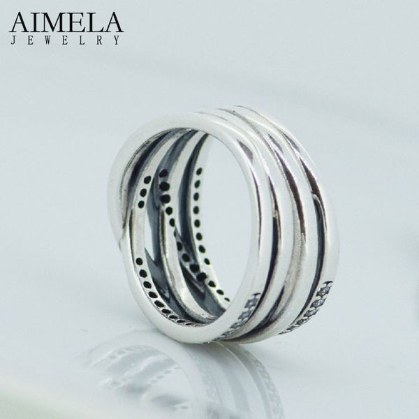 Aimela Jewelry Bohemia 5mm 925 Sterling Silver Party Wedding Bands Women Sh0573