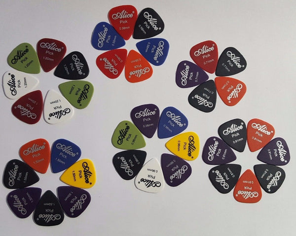 Alice Smooth ABS Guitar Picks Plectrum Gauge 0.58mm 0.71mm 0.81mm 0.96mm 1.20mm 1.50mm