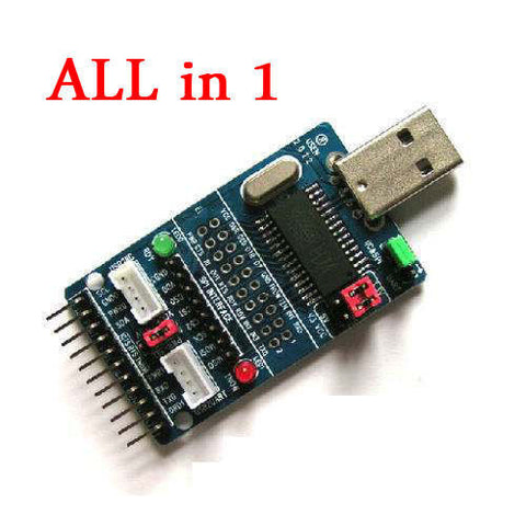 ALL IN 1 Multifunction USB to SPI I2C IIC UART TTL ISP Serial Adapter Module