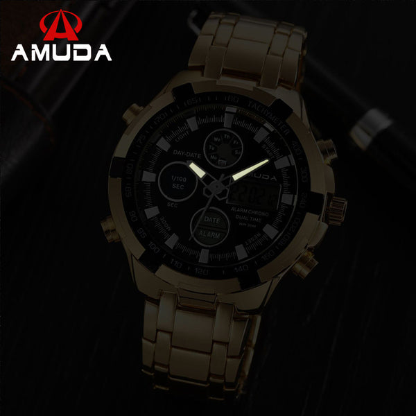Amuda Stainless Steel Dual Display Alloy Men Am2002