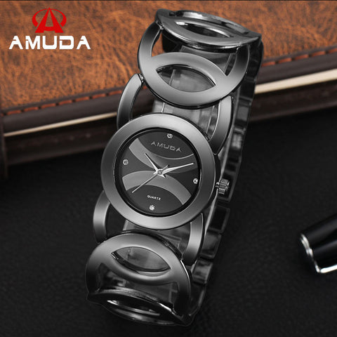 Amuda Stainless Steel Quartz Alloy Quartz Wristwatches Women Am2032