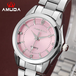 Amuda Stainless Steel Quartz Alloy Quartz Wristwatches Women Am2038