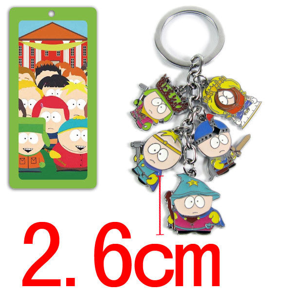 Anime South Park action figure toys keychain pendant cartoon mini model dolls kids kawaii toys Christmas gifts