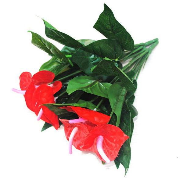 Anthurium green potted anthurium flowers indoor green plants balcony office desktop artificial flowers bonsai