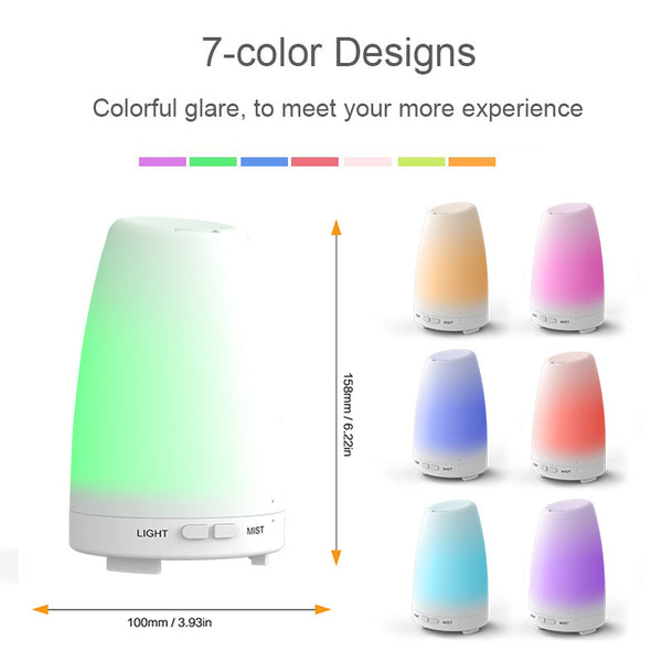 aroma diffuser ultrasonic 120ml Ultrasonic Portable Air Humidifier Mini aroma diffuser aromatherapy diffuser with Warm LED