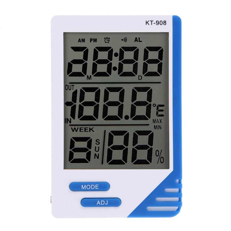 ASLT Weather Station Digital LCD Temperature Humidity Meter Indoor Outdoor Room Thermometer Clock Hygrometer with sensor