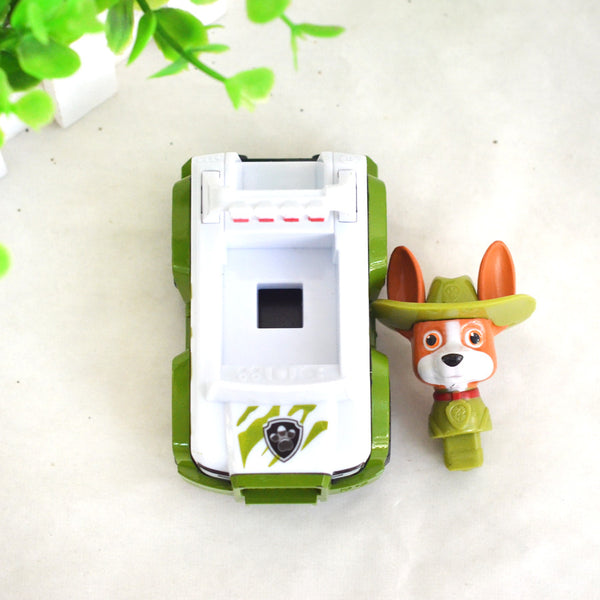 ATOY New 1pcs Puppy Patrol Dog Tracker Environmental Car Patrulla Canina Toys Spain Patrol Canine for Children Birthday Gift