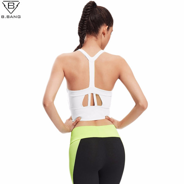 B.BANG Women Professional Sport Bra Tanks Tops Comfortable Bra Push Up For Yoga Sports Running Fitness Clothing For Women