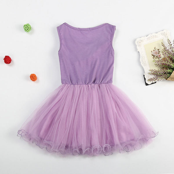 Baby Girls Dress Sleeveless One Piece Flower Lace Ruffles Wave Princess Tutu Dresses Toddler Kids Clothes For Summer vestidos