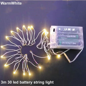 Battery Powered 4.5V 3M 10FT 30 LED String Fairy Party Lights For Wedding Home Garlands Holiday Christmas Decorative
