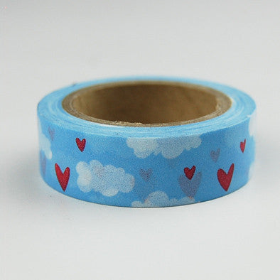 Beautiful high quality washi paper tape 15mm*10m blue sky and white cloud masking japan washi tape