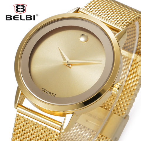 Belbi Stainless Steel Quartz Alloy Quartz Wristwatches Women Zb8498