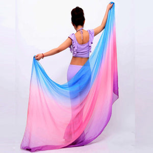 Belly Dancing Costumes chiffon yarn scarf Solid Belly Dance Veils Stage Performance Props SH98
