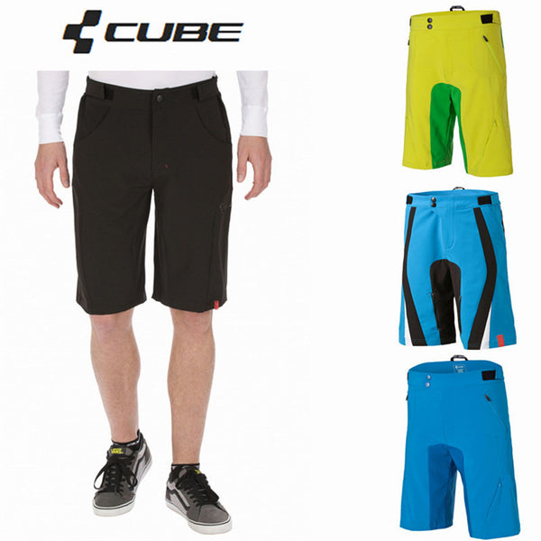 Big Sale Downhill Cube Shorts Cycling Shorts men MTB Teamline AM Sports mountain Bike Riding bib Bicycle size S-XXL