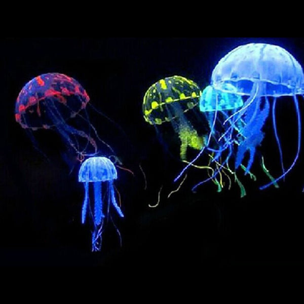 Big Sale Lovely Silicone Artificial Jellyfish Style Swim Glowing Effect Fish Tank Aquarium Decoration Accessorie