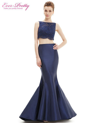 Black Long Mermaid Evening Dresses Ever Pretty 2016 Autumn Formal Plus Size  Two Pieces Maxi Party 0b69ac616ca4