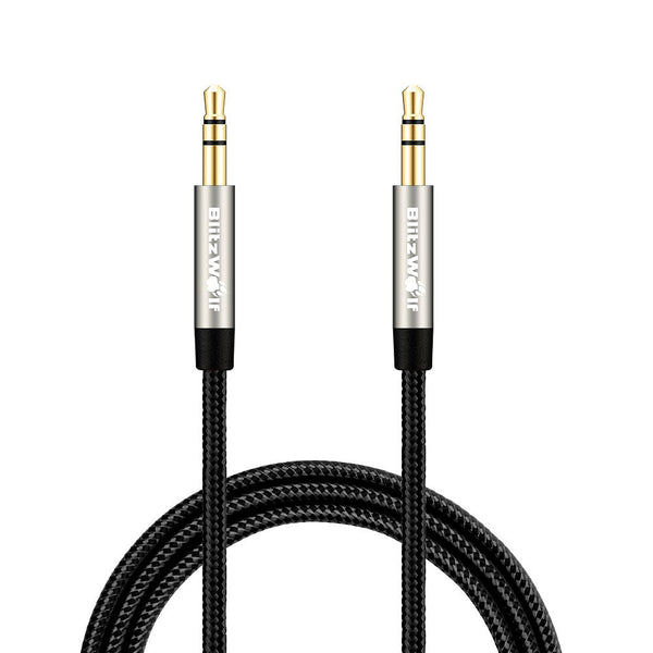 Blitzwolf Pre-order 3.5mm To 3.5mm Audio Cable Aux Braided 1m Cable For Car For iPhone 6 6Plus 5 For Samsung For Xiaomi Speaker