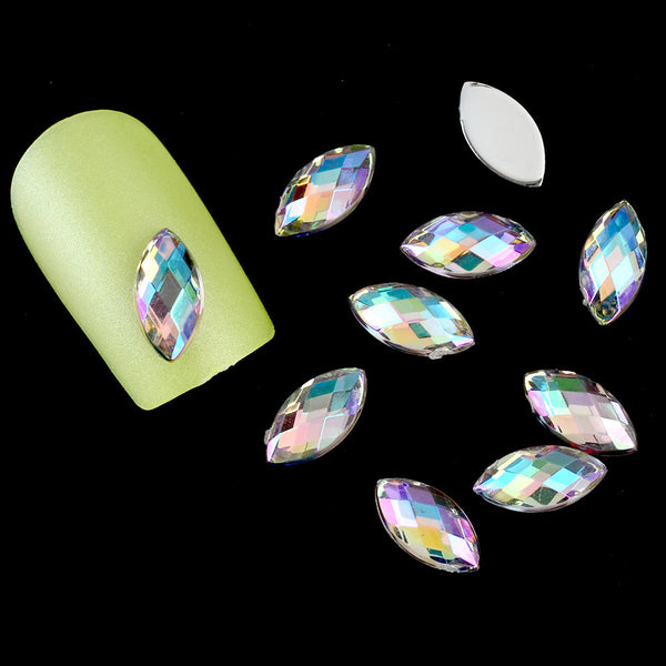 Blueness 3D Nail Art Decoration Acrylic Colorful Drop Design Nail Studs DIY Rhinestone Decoration For Nail Tools ZP013