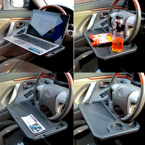 BN-C03C Car Auto Steering Wheel Tray Organizer Work Table Laptop Computer Stand Notebook Desk Clip Driver Table For Food Drink
