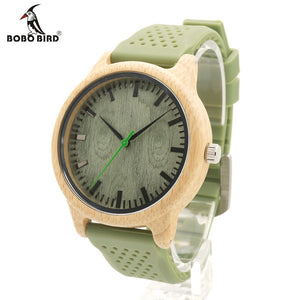 Bobo Bird Leather Quartz Bamboo Quartz Wristwatches Women Bbb06