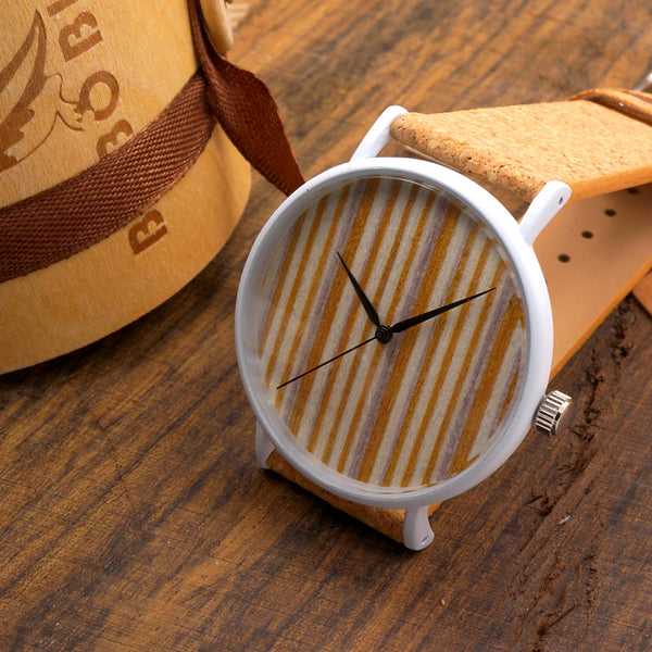 Bobo Bird Leather Quartz Wooden Quartz Wristwatches Men Bbm002