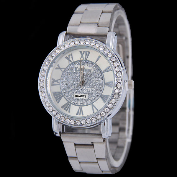 Bolingdun Stainless Steel Quartz Alloy Quartz Wristwatches Women Sb00452