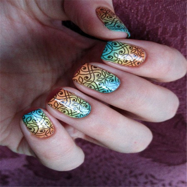 BORN PRETTY Rectangle Manicure Stamping Template Vines Design 12*6cm Nail Art Image Plate BP-L049