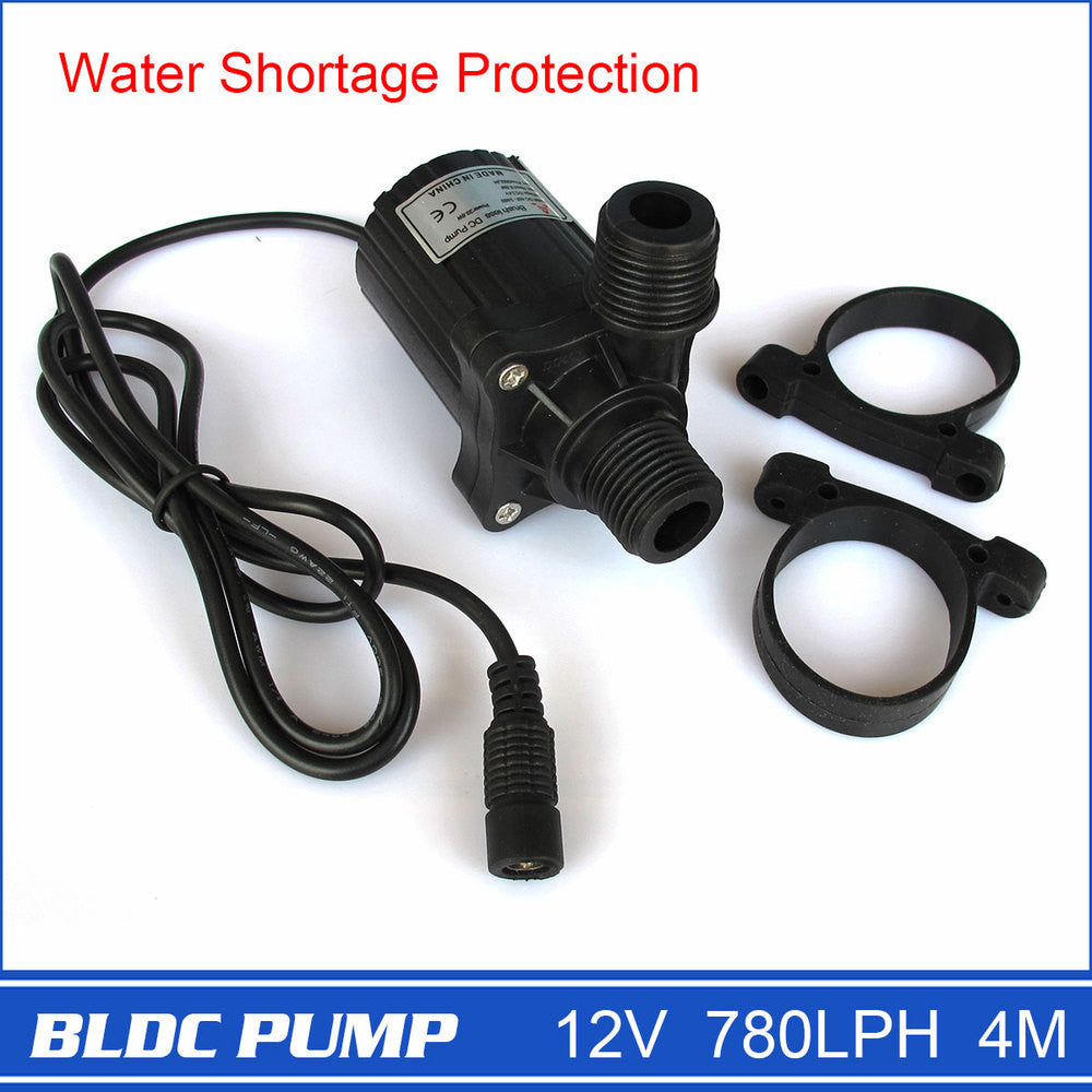 Brand New 12V Micro Pump with DC Plug Strong 780LPH 4M Black 230g Electric Power Drop Shipping and Free Shipping