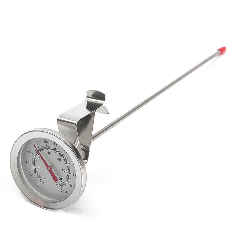 Brew Kettle Thermometer Side Clip 304 Stainless Steel Homebrew Beer Probe Thermometer 0-220 F -10-100 C Dial Face