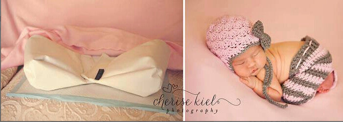 Newborn Baby Butterfly Squishy Posing Pillows Photo Prop Photography White