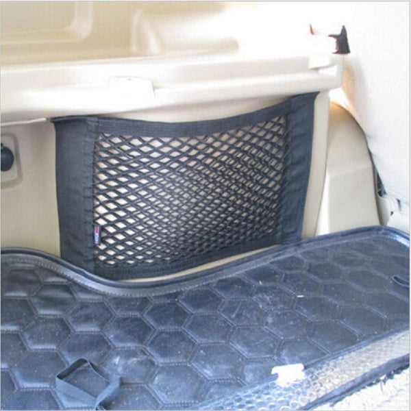 Car Seat Back Trunk Velcro Storage Net String Bag Add On For Ford Kuga Escape Ecosport Fiesta Mondeo auto accessories