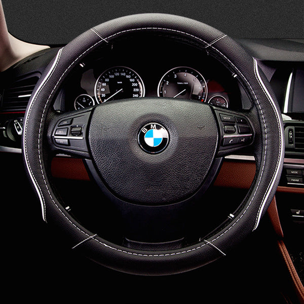 Car Steering Wheel Cover Artificial leather Black Beiga car wheel covers styling steering wheel hubs for santa for audi a4