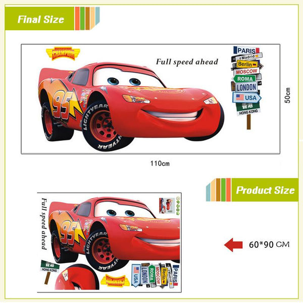 cars wall stickers kids room decorations full speed ahead quotes 9006. diy home decals cartoon movie mural art print posters