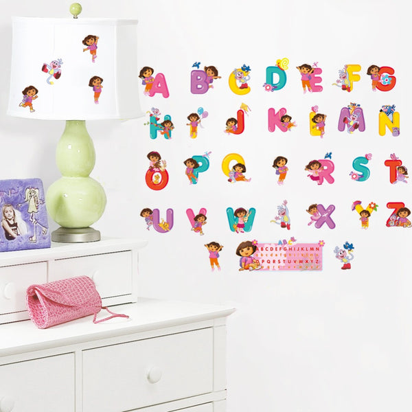 Carton The Avengers Winnie The Pooh 26 DIY English Letters Teaching Tools For Kids Baby Nursery Name Wall Stickers Decor Decal