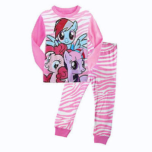 Cartoon My Little Toddler Kids Baby Girls Nightwear Pajamas Set Sleepwear Home-wear Pj's Clothing Suit 1-7Y