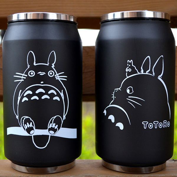 cartoon vacuum thermos mug my neighbor totoro can of cola stainless steel anime figures cup with Japanese hayao miyazaki design