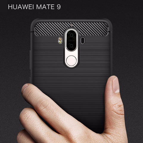 Case for Huawei Mate 9 Phone Cover Carbon Fiber Brushed TPU Mobile Phone Case Cover for Huawei Mate 9 Shell