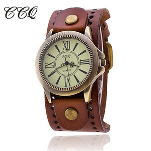 Ccq Leather Quartz Alloy Quartz Wristwatches Women 1391