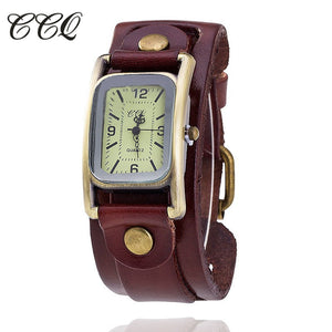 Ccq Leather Quartz Brass Quartz Wristwatches Women 1846