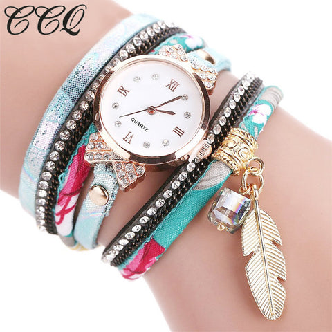 Ccq Leather Quartz Stainless Steel Quartz Wristwatches Women C51