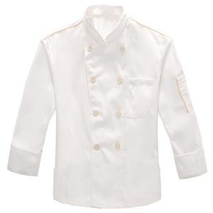 Chef Uniforms Clothing white Long sleeve men women Food Services Cooking Clothes Double-Breasted Golden edge
