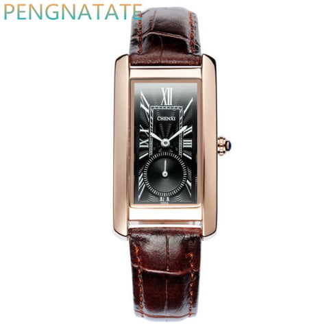 Chenxi Leather Quartz Stainless Steel Quartz Wristwatches Women Cx088a