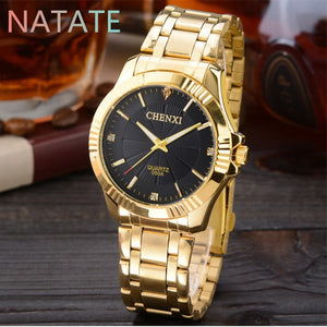 Chenxi Stainless Steel Quartz Yellow Gold Quartz Wristwatches Women Cx-050aw