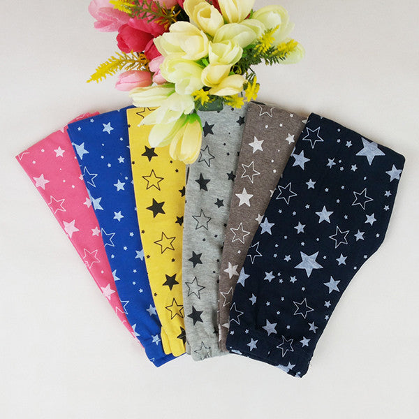 Child Kids Girls Star Printed Pants Skinny Pants Warm Stretchy Leggings Trousers