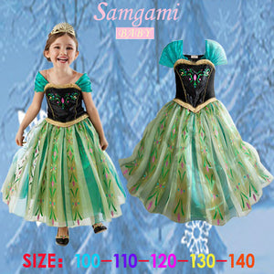 children dress Girl Princess Dress Elsa Anna dress Summer sleeveless princess dress Costume Anna costume baby & kids clothing