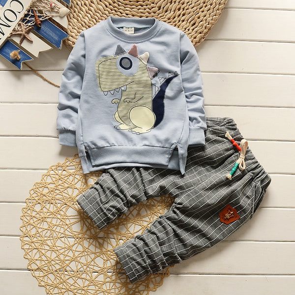 Children Girl clothes sets long sleeve sweatshirt and Pants Kids clothing set Outfits sport suit 1-4years